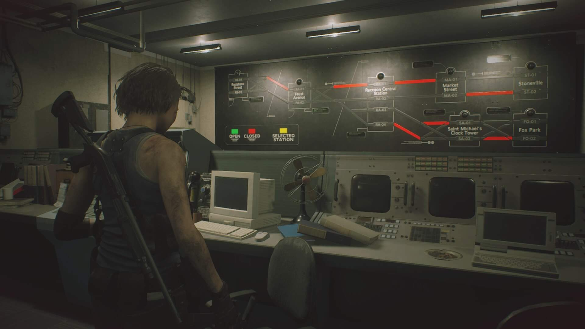 Resident Evil 3: How to Direct the Train Route in the Downtown Subway Office